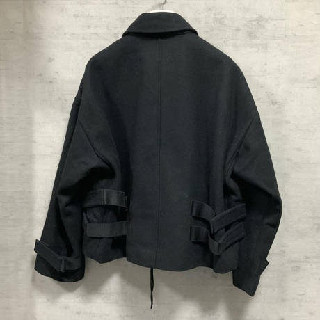 BOX SILHOUETTE SHORT BLOUSON / BLACK