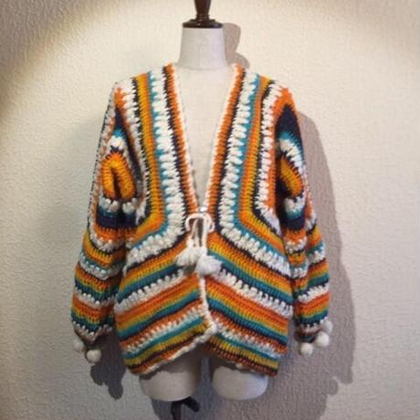 手編みWOOLマルチヤーン かぎ針ニット#2047003