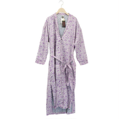 綿ハンドブロックプリント・コートドレス #2012001