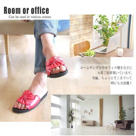 【再入荷】Pansy パンジー サンダル レディース   つっかけ フラット  日本製 軽量 オフィス 室内 リボン 可愛い おしゃれ