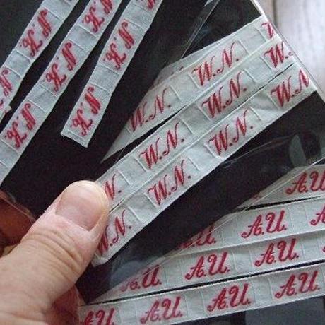アンティークイニシャルテープ f-821