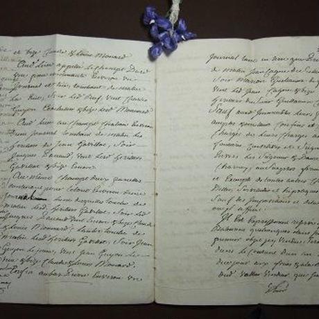 アンティーク古文書 フランス 1788年 c-270