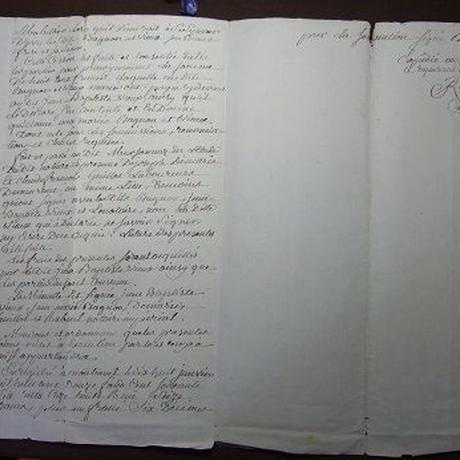 アンティーク古文書 フランス公文証1812年 c-280