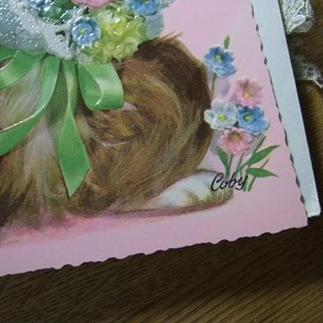 犬のメッセージカード Coby作 封筒付き(未使用)c-2656