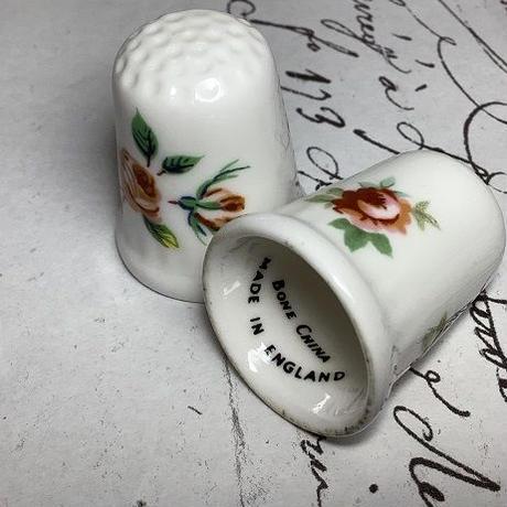 バラの手書きシンブル f-1242