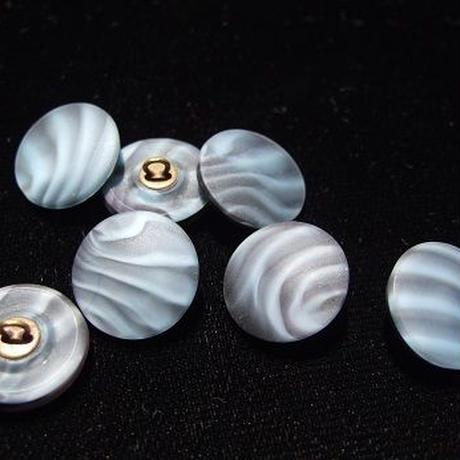 チェコガラスマーブルボタン f-820