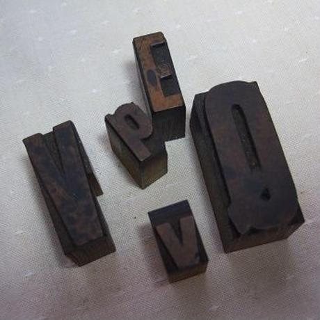 プリンターブロック5コ 木製スタンプ w-107