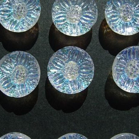 オーロラガラスボタン 直径12mm f-815