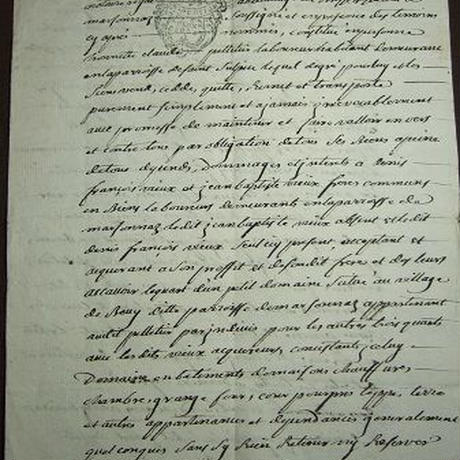 アンティーク古文書 フランス1768年 c-271