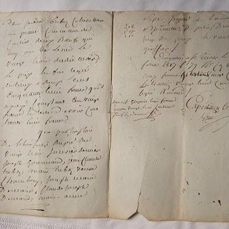 フランス古文書 1816年c-258