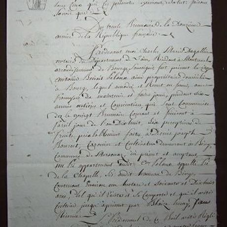 アンティーク古文書 フランス1807年頃 手書き公文証 c-278