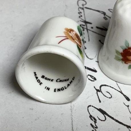 バラの手書きシンブル f-1243