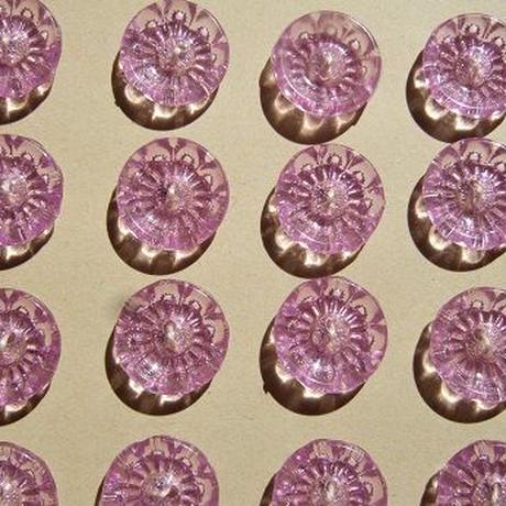 ビタミンカラーの花ボタン 黄色・紫・ライム f-965 f-966  f-967