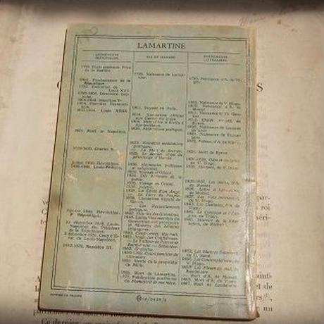 アンティークフランス本 ラマルティーヌ c-241
