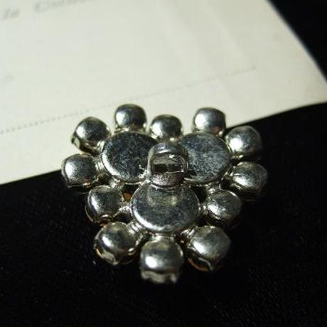 クリスタルラインストーン飾りボタン  w:27mm f-749