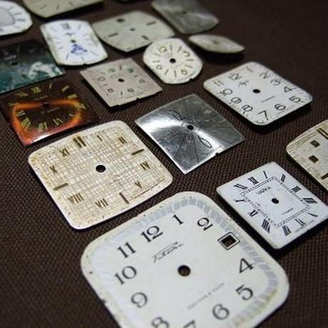 アンティーク時計文字盤 四角形2コセット a-1358