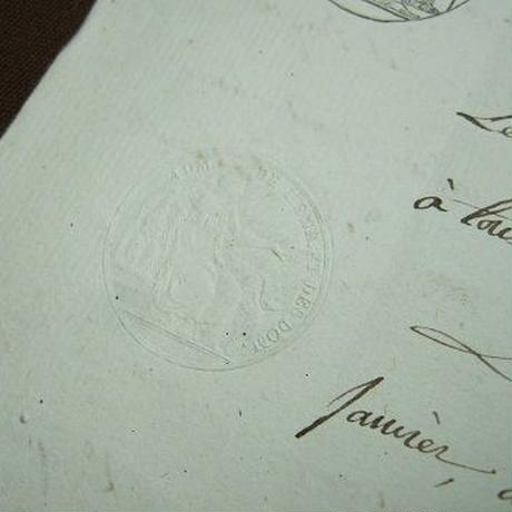 アンティーク古文書 フランス1800年 c-273
