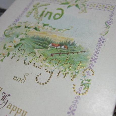アンティークポストカード スズラン文字 c-103