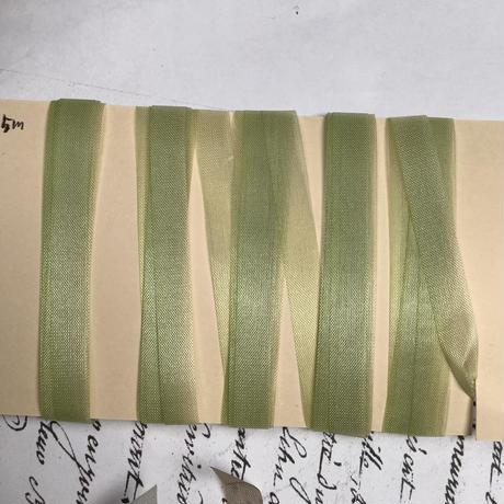 手染めシルクリボン4色(12m30cm) ヴィンテージ日本製 f-1395