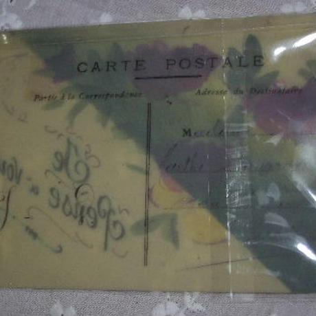 アンティークポストカード セルロイド パンジー c-137