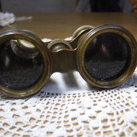 アンティークオペラグラス 真鍮xパール フランス製 o-259