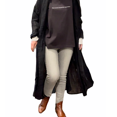 C.C.CROSS(シーシークロス)フレイドアンクルルスキニー スロープデザインカット (WOMENS)