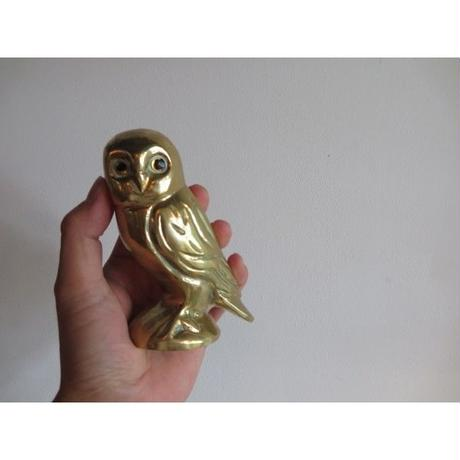 vintage   brass owl ornament