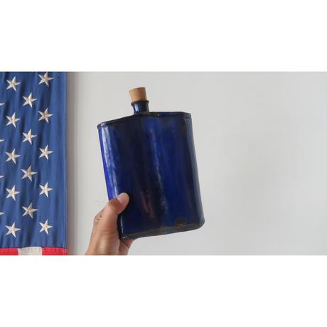 enamel blue bottle