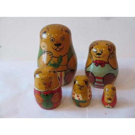 vintage English bear Matryoshka