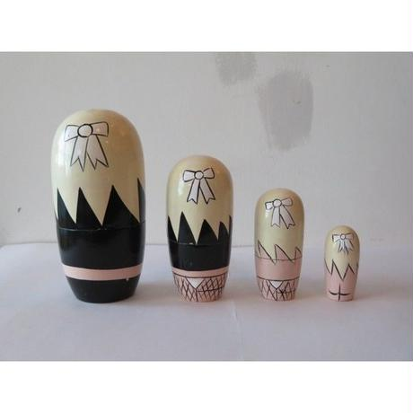 French vintage bunny Matryoshka