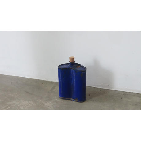 enamel blue bottle
