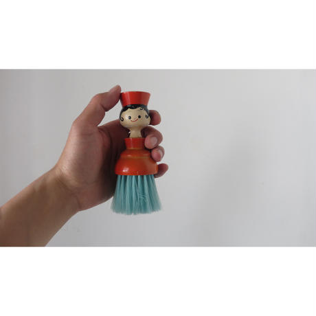 clothes brush wooden doll