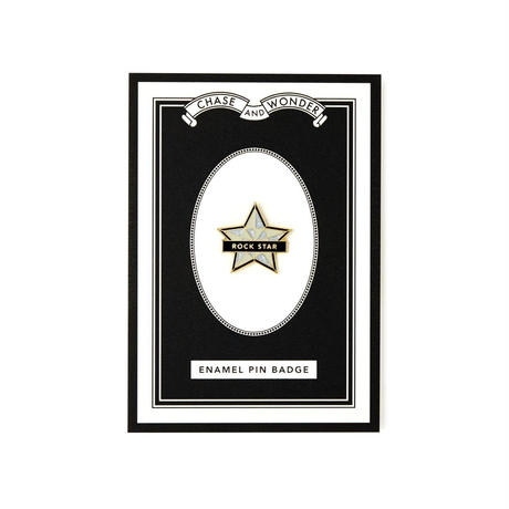 ROCK STAR ENAMELED PIN BADGE/  エナメル ピンバッチ
