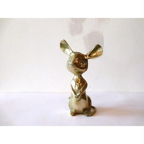 Vintage brass mouse ornament