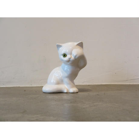 vintage ceramic cat ornament
