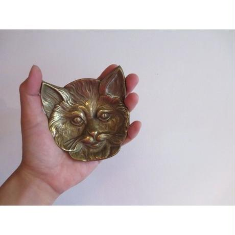 vintage brass  cat tray