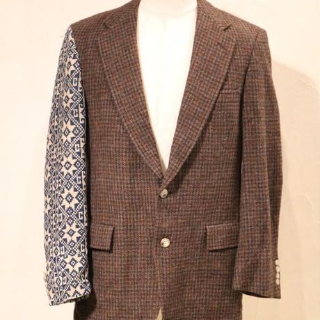 Tweed x Lao Fabric  Jacket  リメイク アップサイクル