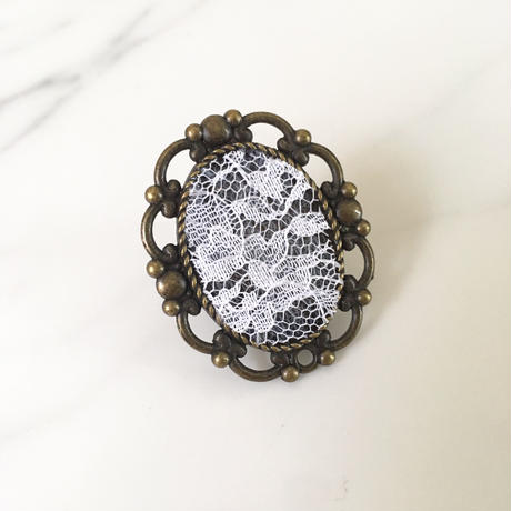 handmade lace design ring