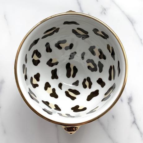【予約受注item 】handmade  Leopard dish bowl