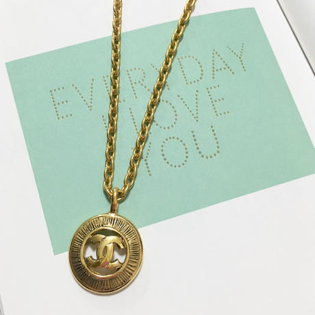 vintage CHANEL cocomark necklace