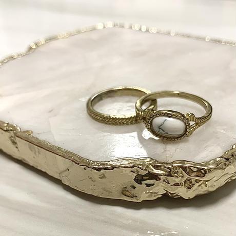 vintage stone 2set rings