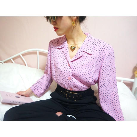 vintage dot  blouse jacket