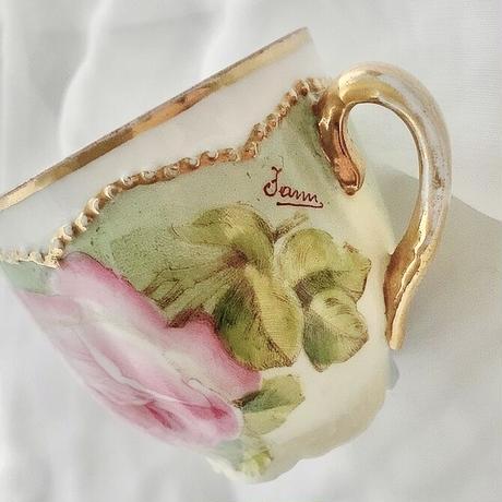vintage flower cup & saucer