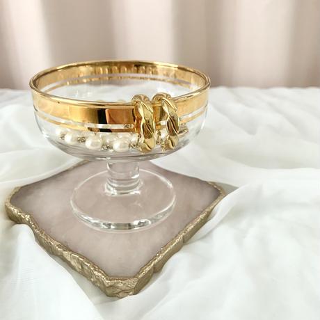 vintage gold line glass