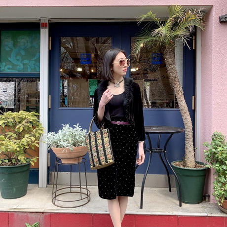 vintage velour skirt