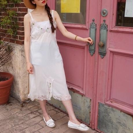 vintage rose lace camisole one-piece