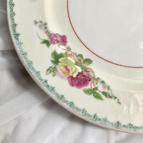 vintage flower dish plate