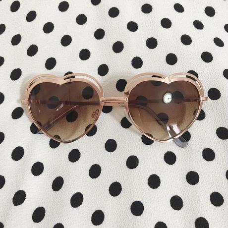 select heart sunglasses