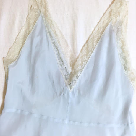 vintage flower lace long camisole one-piece