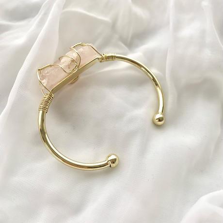 Stone bracelet(gold×rose)